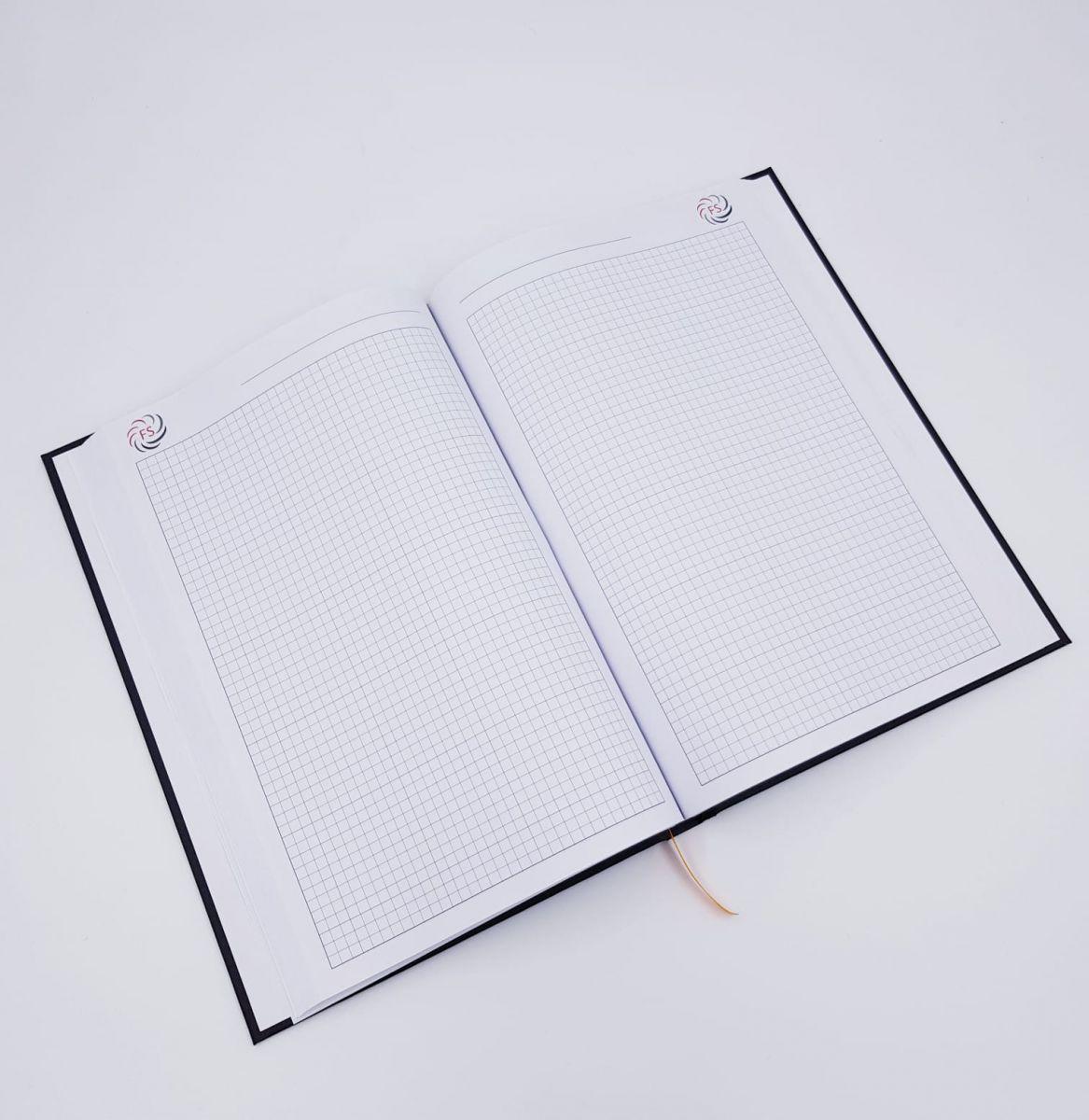 R-Design Werbedruck Geschäftsbuch
